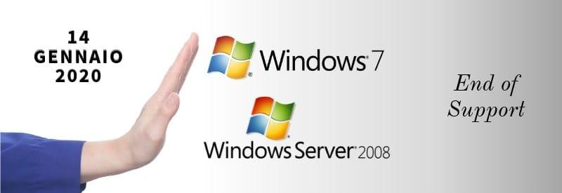 Fine del Supporto Microsoft per Windows 7 e Windows Server 2008 dal 14 gennaio 2020